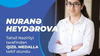 Kaspi Liseyi Qızıl medal alan məzunlarını mükafatlandırdı