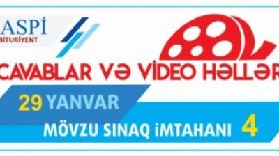 Mövzu Sınaq İmtahanı 4 - 29 Yanvar 2016-2017