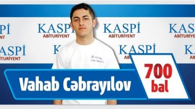 "The Lahij high school graduate who got 700 points on the University Admission Exam will receive ""Kaspi"" scholarship."