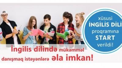 Kaspi Nəsimidə XÜSUSİ ingilis dili proqramına start verildi!