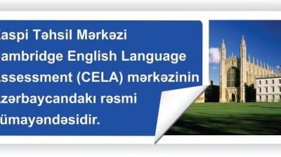 """""""Kaspi""""Təhsil Mərkəzi Cambridge English Language Assessment mərkəzinin Azərbaycandakı rəsmi nümayəndəsidir."""
