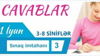 11 İyun- III - VIII SİNİF İMTAHANI2017