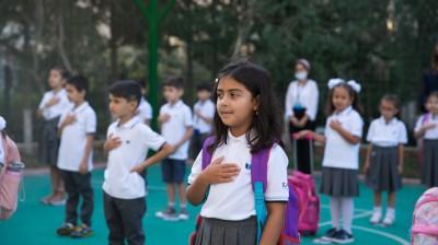 Kaspi İnternational School şagirdlərini qarşıladı