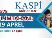 19 aprel - Abituriyentlər üçün qəbul imtahanı
