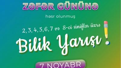 """""""Zəfər günü""""nə həsr olunmuş Bilik Yarışı"""