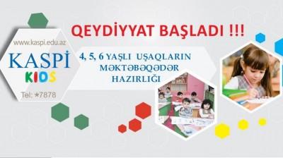Kaspi Kids kurslarına qeydiyyat başlamışdır.