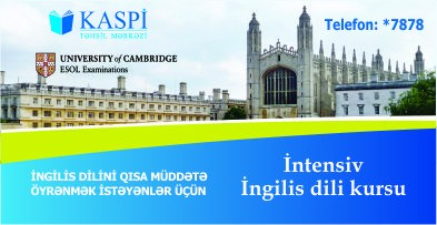 İntensiv ingilis dili kursları
